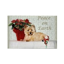 """Peace on Earth"" Cairn Terrier Rectangle Magnet (1"