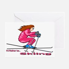 IRB Skiing (woman) Greeting Card