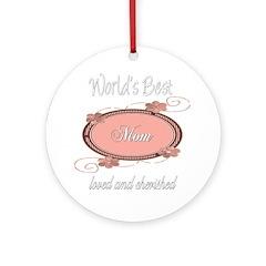 Cherished Mom Ornament (Round)