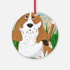 Basset Hound Art Ornament (Round)