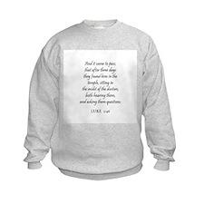 LUKE  2:46 Sweatshirt