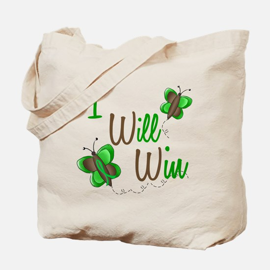 I Will Win 1 Butterfly 2 GREEN Tote Bag