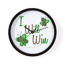 I Will Win 1 Butterfly 2 GREEN Wall Clock