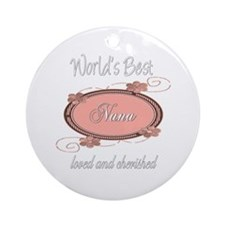 Cherished Nana Ornament (Round)