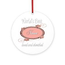 Cherished Nana Ornament (Round)