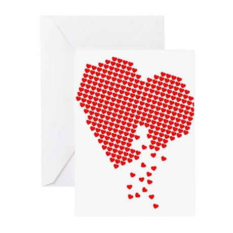 Digital Hearts Greeting Cards (Pk of 10)