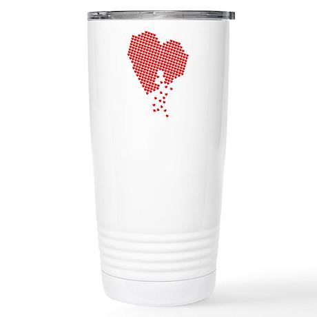 Digital Hearts Stainless Steel Travel Mug