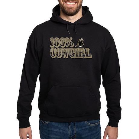 100% COWGIRL Hoodie (dark)