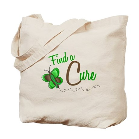 Find A Cure 1 Butterfly 2 GREEN Tote Bag