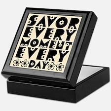 SAVOR EVERY MOMENT Keepsake Box