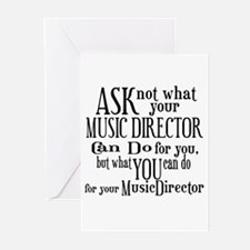 Ask Not Music Director Greeting Cards (Pk of 10)