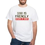 Dog Mens White T-shirts