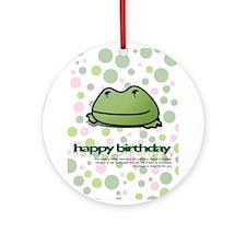 Delightful Birthday Frog Ornament (Round)