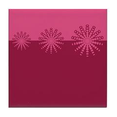 Magenta Snowflakes Tile Drink Coaster