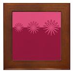 Magenta Snowflakes Framed Tile