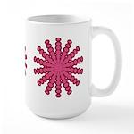 Magenta Snowflakes Large Mug (15 oz)