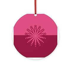 Magenta Snowflakes Ornament (Round)