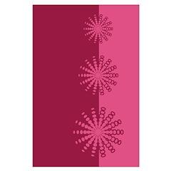 Magenta Snowflakes Posters