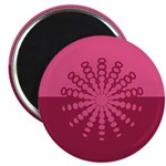 "Magenta Snowflakes 2.25"" Magnet (100 pack)"