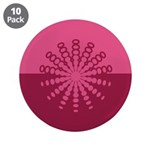 "Magenta Snowflakes 3.5"" Button (10 pack)"