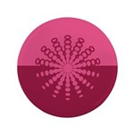 "Magenta Snowflakes 3.5"" Button (100 pack)"