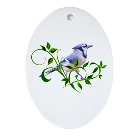 Blue Jay Oval Ornament