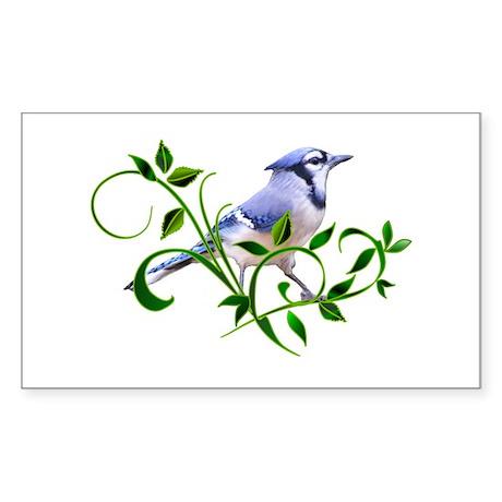 Blue Jay Rectangle Sticker