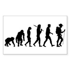 Hiking Backpacking Walking Rectangle Decal