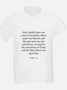 LUKE  2:25 Kids T-Shirt