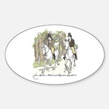 pride and Prejudice Ch 53 Oval Decal