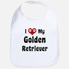 I Love My Golden Retriever Bib