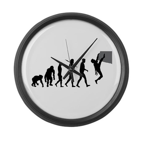 Climbers Rock Climbing Large Wall Clock