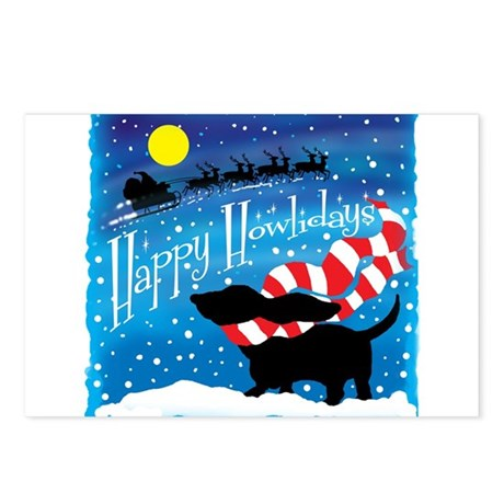 Basset Scarf Postcards (Package of 8)