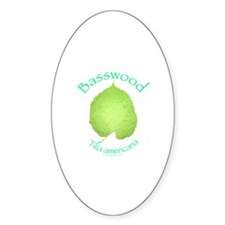 Basswood Leaf 2 Oval Decal