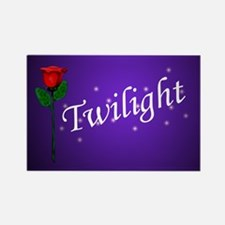 Twilight Rose Rectangle Magnet