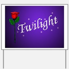 Twilight Rose Yard Sign