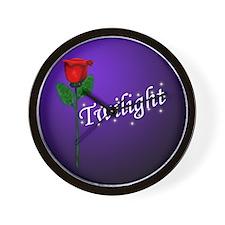 Twilight Rose Wall Clock