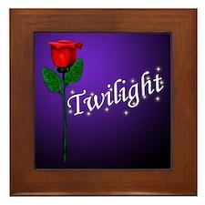 Twilight Rose Framed Tile