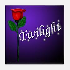 Twilight Rose Tile Coaster
