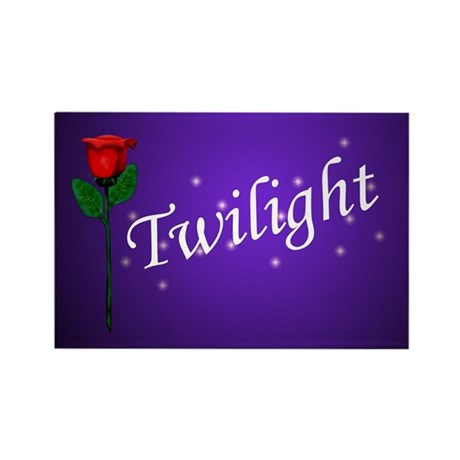Twilight Rose Rectangle Magnet (100 pack)
