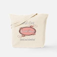 Cherished Little Sister Tote Bag