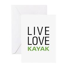 Live Love Kayak Greeting Card