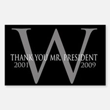 Thank You Mr. President: Geor Rectangle Decal