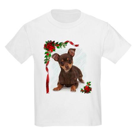 Chihuahua Christmas Kids Light T-Shirt