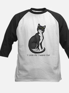 Love My Tuxedo Cat Kids Baseball Jersey