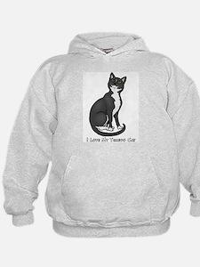Love My Tuxedo Cat Hoodie