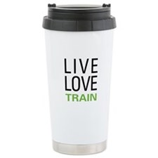 Live Love Train Thermos Mug