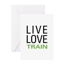 Live Love Train Greeting Card