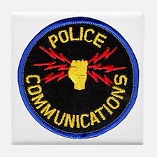 Police Communications Tile Coaster