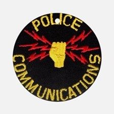 Police Communications Ornament (Round)